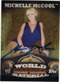MICHELLE McCOOL AUTOGRAPHED WRESTLING CARD #102314J