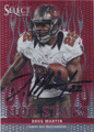 DOUG MARTIN TAMPA BAY BUCCANEERS AUTOGRAPHED FOOTBALL CARD #102314M