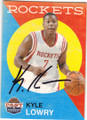 KYLE LOWRY HOUSTON ROCKETS AUTOGRAPHED BASKETBALL CARD #102314O