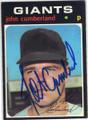 JOHN CUMBERLAND SAN FRANCISCO GIANTS AUTOGRAPHED VINTAGE BASEBALL CARD #102314P