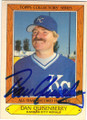 DAN QUISENBERRY KANSAS CITY ROYALS AUTOGRAPHED VINTAGE BASEBALL CARD #102414E