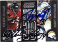 STEVEN JACKSON & DANNY WOODHEAD ATLANTA FALCONS AND SAN DIEGO CHARGERS DOUBLE AUTOGRAPHED FOOTBALL CARD #102414G