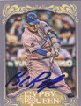 BILLY BUTLER KANSAS CITY ROYALS AUTOGRAPHED BASEBALL CARD #102514C