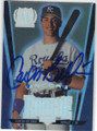 CARLOS BELTRAN KANSAS CITY ROYALS AUTOGRAPHED ROOKIE BASEBALL CARD #102514i