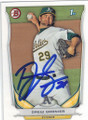 DREW GRANIER OAKLAND ATHLETICS AUTOGRAPHED ROOKIE BASEBALL CARD #102714i