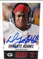 DAVANTE ADAMS FRESNO STATE & GREEN BAY PACKERS AUTOGRAPHED ROOKIE FOOTBALL CARD #102814A