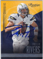 PHILIP RIVERS SAN DIEGO CHARGERS AUTOGRAPHED FOOTBALL CARD #102814H