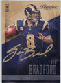 SAM BRADFORD ST LOUIS RAMS AUTOGRAPHED FOOTBALL CARD #102814K