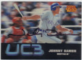 JOHNNY DAMON KANSAS CITY ROYALS AUTOGRAPHED ROOKIE HOLOGRAPHIC BASEBALL CARD #102814L