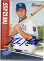 MIKE MOUSTAKAS KANSAS CITY ROYALS AUTOGRAPHED ROOKIE BASEBALL CARD #110314D