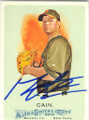 MATT CAIN SAN FRANCISCO GIANTS AUTOGRAPHED BASEBALL CARD #110414G