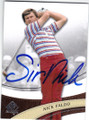 NICK FALDO AUTOGRAPHED GOLF CARD #110414H