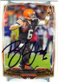 BRIAN HOYER CLEVELAND BROWNS AUTOGRAPHED FOOTBALL CARD #110514i
