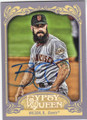 BRIAN WILSON SAN FRANCISCO GIANTS AUTOGRAPHED BASEBALL CARD #110614A