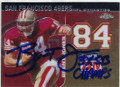 BRENT JONES SAN FRANCISCO 49ers AUTOGRAPHED FOOTBALL CARD #110714B