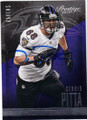 DENNIS PITTA BALTIMORE RAVENS AUTOGRAPHED FOOTBALL CARD #110814i