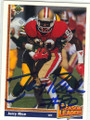 JERRY RICE SAN FRANCISCO 49ers AUTOGRAPHED FOOTBALL CARD #111414A