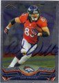 WES WELKER DENVER BRONCOS AUTOGRAPHED FOOTBALL CARD #11514C