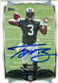 TAJH BOYD NEW YORK JETS AUTOGRAPHED ROOKIE FOOTBALL CARD #111514H