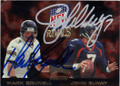 MARK BRUNELL & JOHN ELWAY JACLSONVILLE JAGUARS AND DENVER BRONCOS DOUBLE AUTOGRAPHED FOOTBALL CARD #111514J