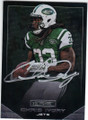 CHRIS IVORY NEW YORK JETS AUTOGRAPHED FOOTBALL CARD #111714E