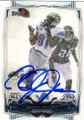 CALVIN JOHNSON DETROIT LIONS AUTOGRAPHED FOOTBALL CARD #111714G