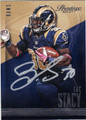 ZAC STACY ST LOUIS RAMS AUTOGRAPHED FOOTBALL CARD #111914B