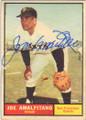 JOE AMALFITANO SAN FRANCISCO GIANTS AUTOGRAPHED VINTAGE BASEBALL CARD #112114B