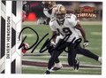 DEVERY HENDERSON NEW ORLEANS SAINTS AUTOGRAPHED FOOTBALL CARD #112114C