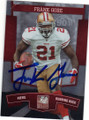 FRANK GORE SAN FRANCISCO 49ers AUTOGRAPHED FOOTBALL CARD #112214F