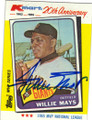 WILLIE MAYS SAN FRANCISCO GIANTS AUTOGRAPHED VINTAGE BASEBALL CARD #112314A