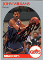 "JOHN ""HOT ROD"" WILLIAMS CLEVELAND CAVALIERS AUTOGRAPHED BASKETBALL CARD #112314O"