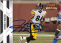 HINES WARD PITTSBURGH STEELERS AUTOGRAPHED FOOTBALL CARD #112414M