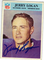 JERRY LOGAN BALTIMORE COLTS AUTOGRAPHED VINTAGE FOOTBALL CARD #112414N