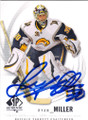 RYAN MILLER BUFFALO SABRES AUTOGRAPHED HOCKEY CARD #112514D