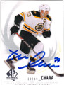 ZDENO CHARA BOSTON BRUINS AUTOGRAPHED HOCKEY CARD #112514i