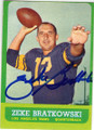 ZEKE BRATKOWSKI LOS ANGELES RAMS AUTOGRAPHED VINTAGE FOOTBALL CARD #112514K