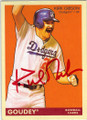 KIRK GIBSON LOS ANGELES DODGERS AUTOGRAPHED BASEBALL CARD #112514L