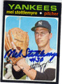 MEL STOTTLEMYER NEW YORK YANKEES AUTOGRAPHED VINTAGE BASEBALL CARD #112514M
