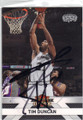 TIM DUNCAN SAN ANTONIO SPURS AUTOGRAPHED BASKETBALL CARD #112514Q