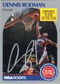 DENNIS RODMAN DETROIT PISTONS AUTOGRAPHED BASKETBALL CARD #112514T