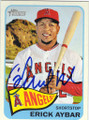 ERICK AYBAR LOS ANGELES ANGELS OF ANAHEIM AUTOGRAPHED BASEBALL CARD #112614H