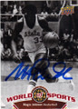 MAGIC JOHNSON MICHIGAN STATE SPARTANS AUTOGRAPHED BASKETBALL CARD #112614i