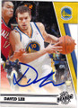 DAVID LEE GOLDEN STATE WARRIORS AUTOGRAPHED BASKETBALL CARD #112614K