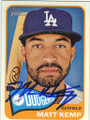 MATT KEMP LOS ANGELES DODGERS AUTOGRAPHED BASEBALL CARD #112614L