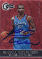 RUSSELL WESTBROOK OKLAHOMA CITY THUNDER AUTOGRAPHED & NUMBERED BASKETBALL CARD #112614M