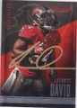 LAVONTE DAVID TAMPA BAY BUCCANEERS AUTOGRAPHED FOOTBALL CARD #112614N