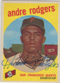 ANDRE RODGERS SAN FRANCISCO GIANTS AUTOGRAPHED VINTAGE BASEBALL CARD #113014A