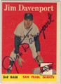 JIM DAVENPORT SAN FRANCISCO GIANTS AUTOGRAPHED VINTAGE ROOKIE BASEBALL CARD #113014F