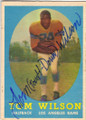 TOM WILSON LOS ANGELES RAMS AUTOGRAPHED VINTAGE FOOTBALL CARD #113014N